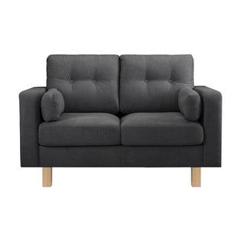 Canapea pentru 2 persoane Stella Cadente Maison Lagoa, gri antracit