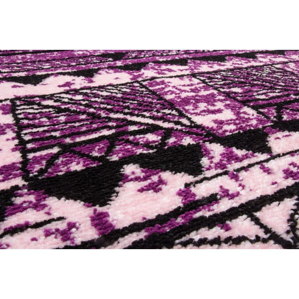 Koberec Aztec, lila/fuchsia, 120x170 cm