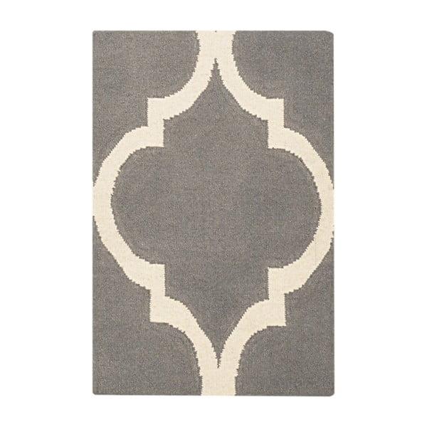 Vlněný koberec Caroline Grey, 60x90 cm