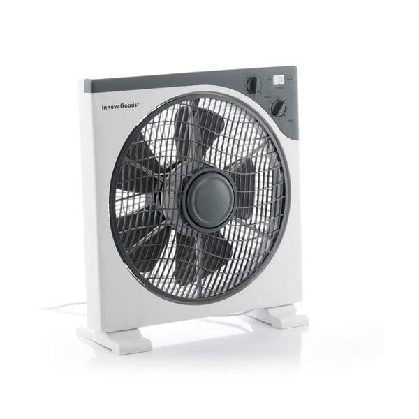Biely podlahový ventilátor InnovaGoods, ø 30 cm