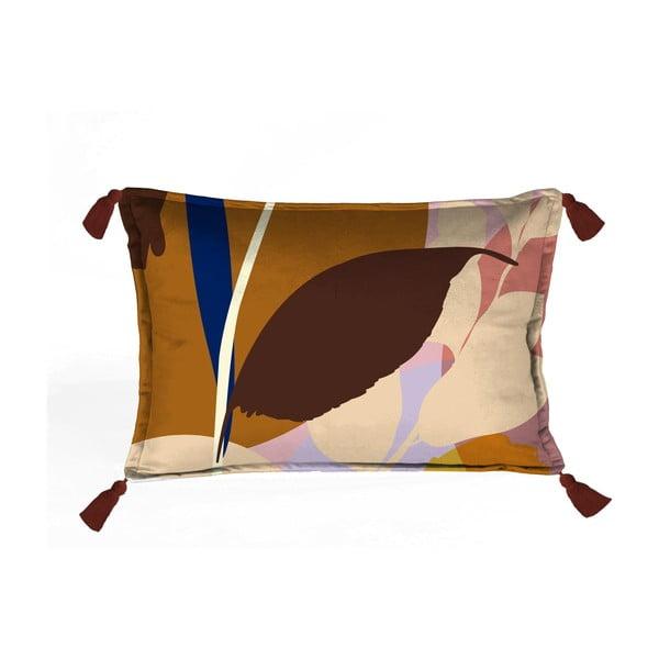 Pernă cu husă din catifea Velvet Atelier Borlas,50x35cm