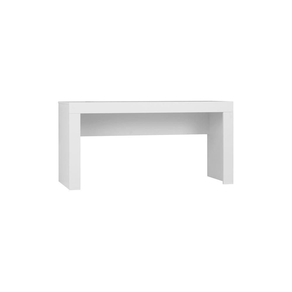 Bílý dětský psací stůl Pinio Calmo, délka 125 cm