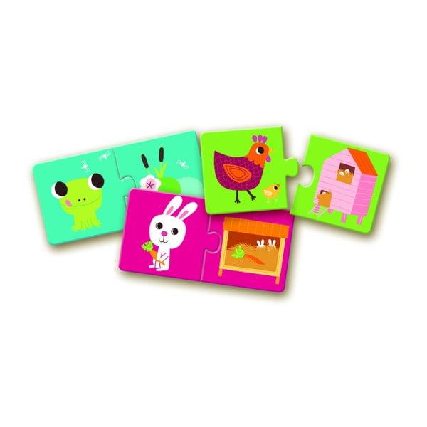 Állatfekhelyek gyerek puzzle - Djeco