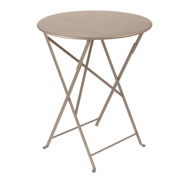 Světle béžový skládací kovový stůl Fermob Bistro