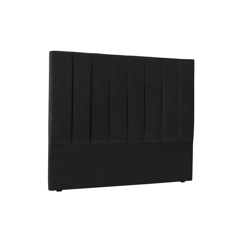 Černé čelo postele Cosmopolitan Design Los Angeles, šířka 140 cm