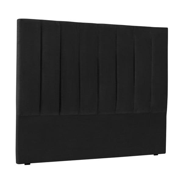 Černé čelo postele Cosmopolitan Design Los Angeles, šířka 160cm
