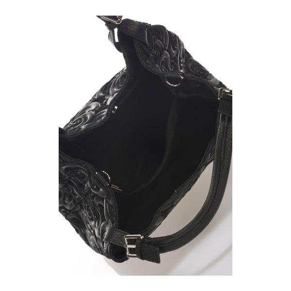 Geantă din piele Massimo Castelli Eriberti, negru