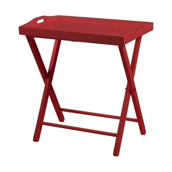 Červený odkládací stolek Actona Vassoio