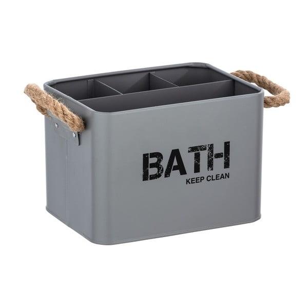 Šedý koupelnový box Wenko Gara