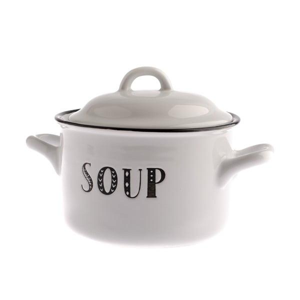 Bol și capac din ceramică pentru supă Dakls Soup, 920 ml