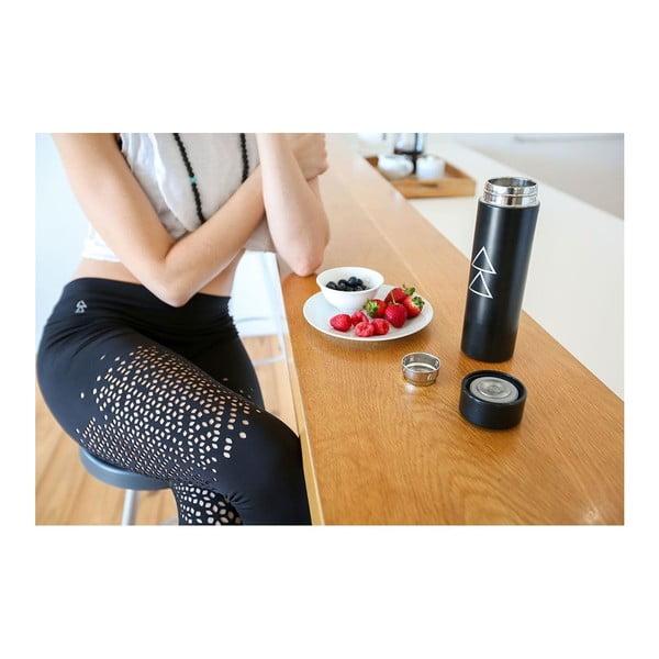 Černá láhev na vodu Yoga Design Lab Zoto, 450 ml