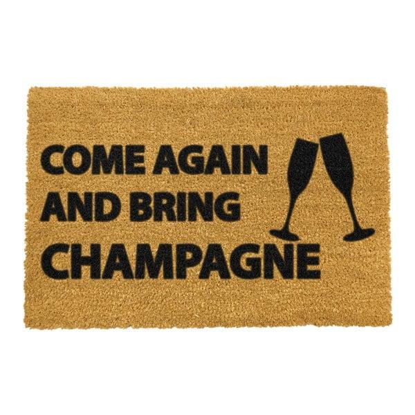 Rohožka z přírodního kokosového vlákna Artsy Doormats Come Again & Bring Champagne,40x60cm
