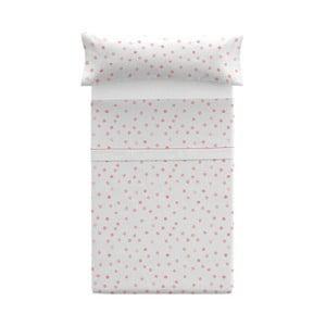 Set povlaku na polštář a prostěradla Pooch Confetti Coral, 125x45cm