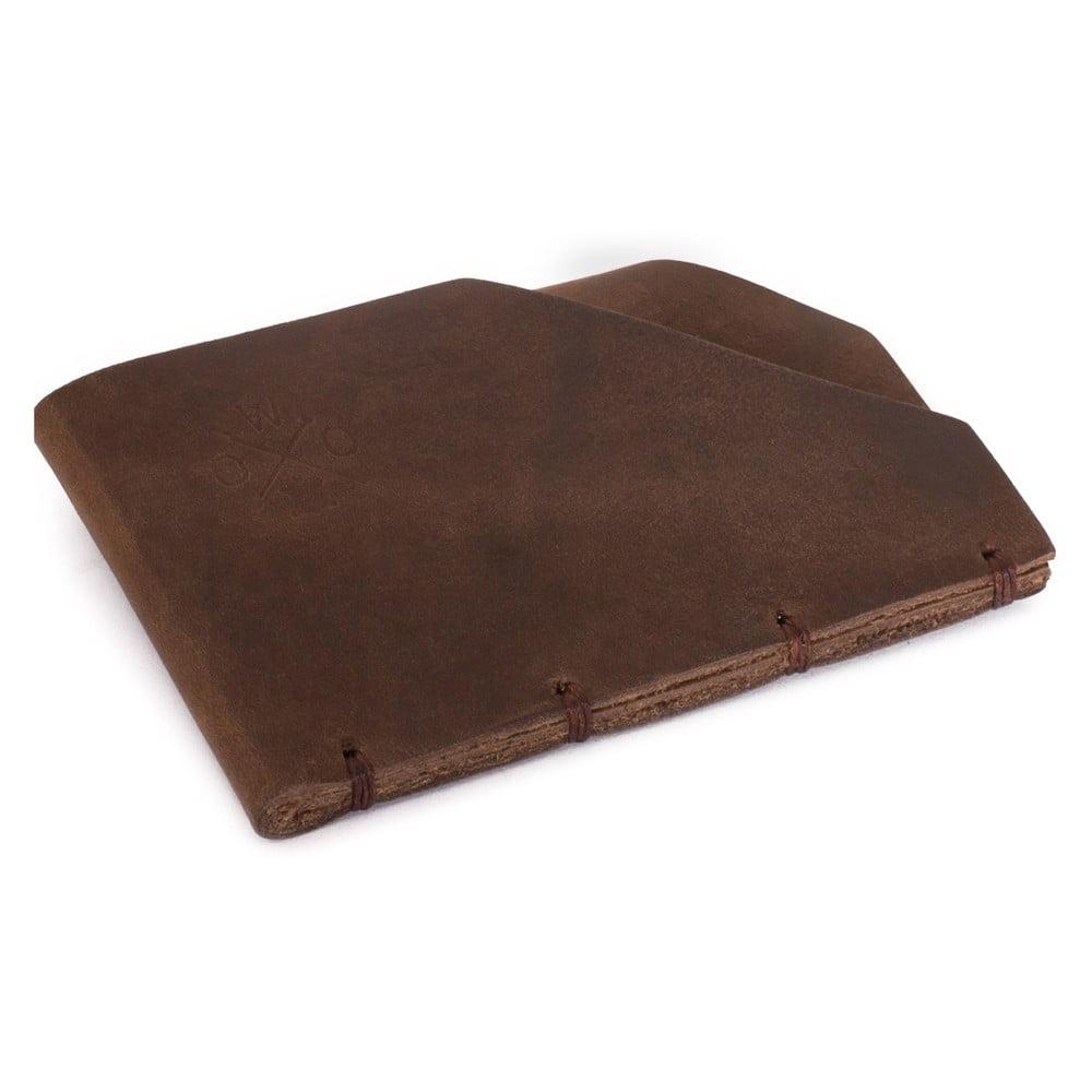 Hnědá kožená peněženka Woox Minor Fuscus