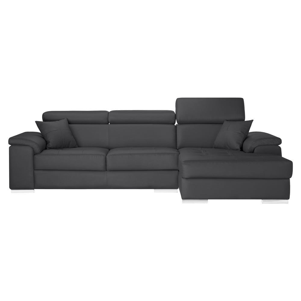 antracitov rohov pohovka corinne cobson confidential prav roh bonami. Black Bedroom Furniture Sets. Home Design Ideas