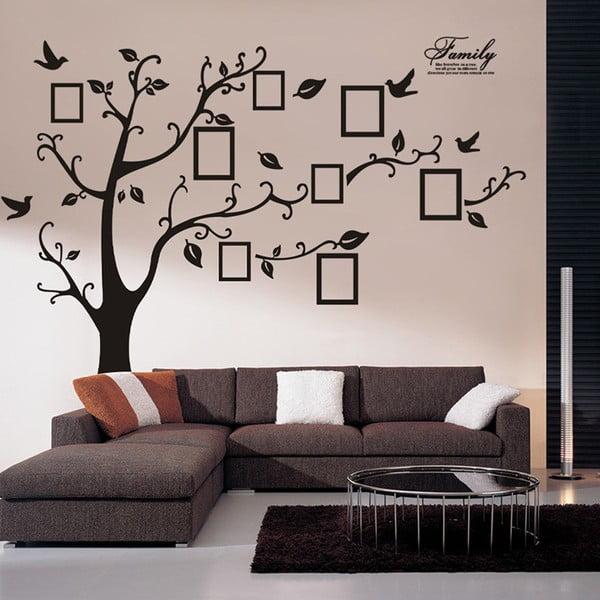 Dekorativní samolepka Strom s fotorámečky, levá strana 180x250 cm