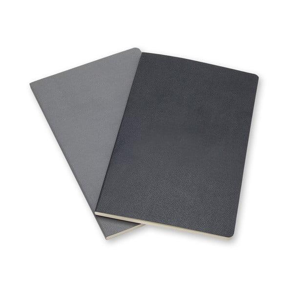 Sada 2 notesů Moleskine Volant 11x7 cm, šedá