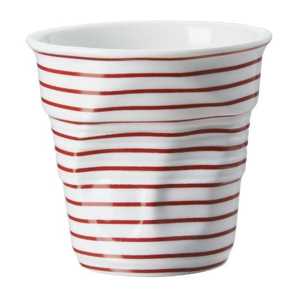 Kelímek na cappuccino Froisses 18 cl, červené pruhy