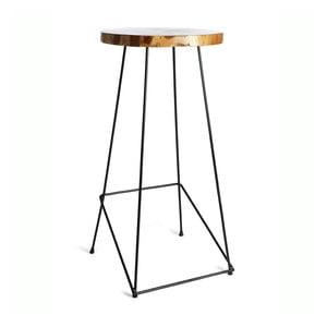 Barové stolička se sedákem z teakového dřeva Simla Bar, výška110cm