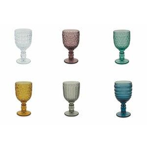 Sada 6 barevných sklenic na víno Villa d'Este Geometrie, 280 ml