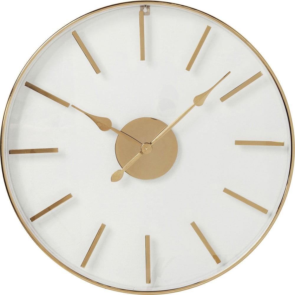 Nástěnné hodiny v růžovozlaté barvě Kare Design, ⌀ 46 cm