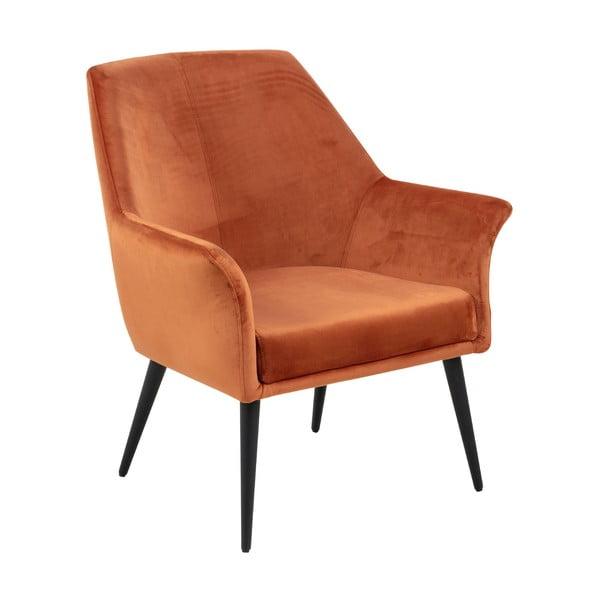 Pomarańczowy fotel Actona Dahlia