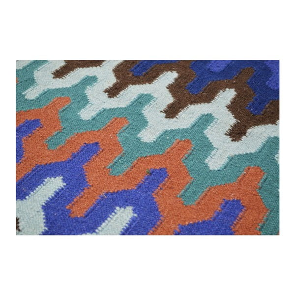 Vlněný koberec Zig Zag Multi, 140x200 cm