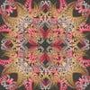Vlněný šátek s kašmírem Fern Black, 130x130 cm