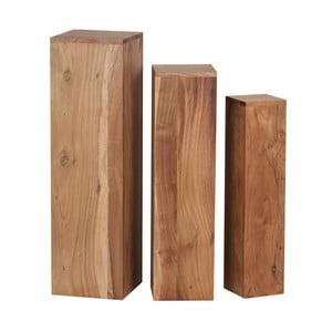 Sada 3 podstavců z masivního akáciového dřeva Skyport Octavia