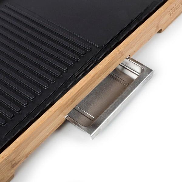 Stolní elektrický gril v bambusovém provedení Tristar, příkon 2200W