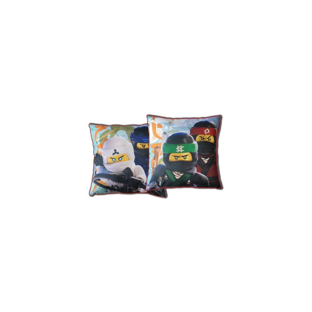Dětský oboustranný polštář Halantex Lego Ninjas, 40 x 40 cm