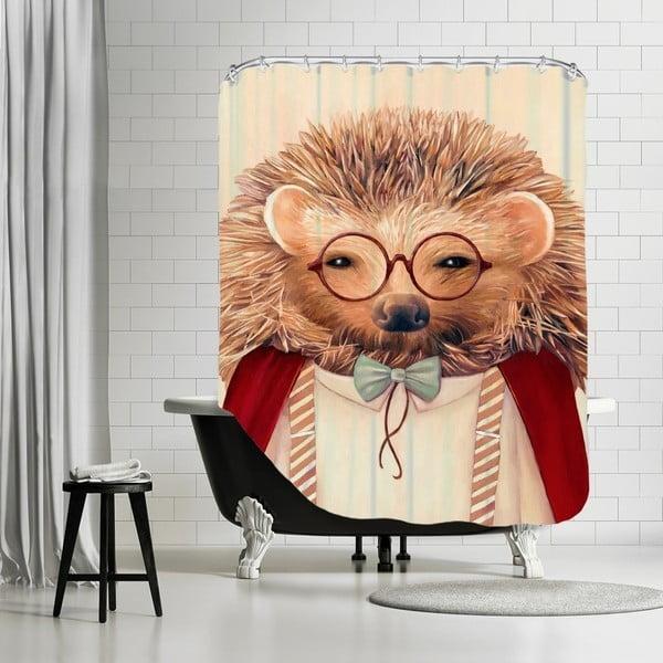 Koupelnový závěs Hedgehog, 180x180 cm