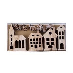 Set 12 dřevěných závěsných ozdob Ego Dekor Huis