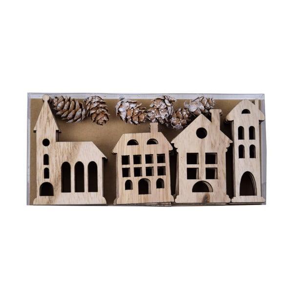 Komplet 12 drewnianych ozdób wiszących Ego Dekor Huis
