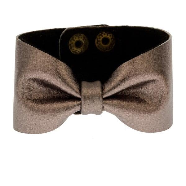 Kožený náramek Bow Grey