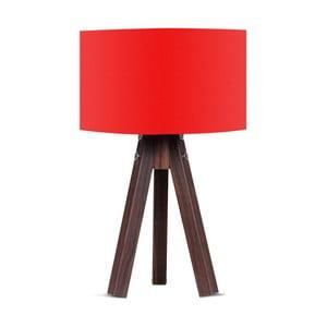 Stolní lampa s červeným stínítkem Kate Louise Kahve