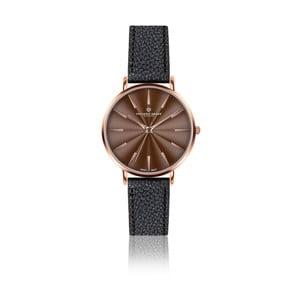 Dámské hodinky s černým páskem z pravé kůže Frederic Graff Rose Monte Rosa Lychee Black Leather