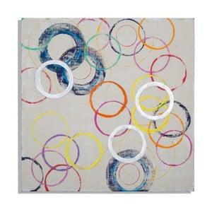 Ručně malovaný obraz Mauro Ferretti Round, 80x80cm