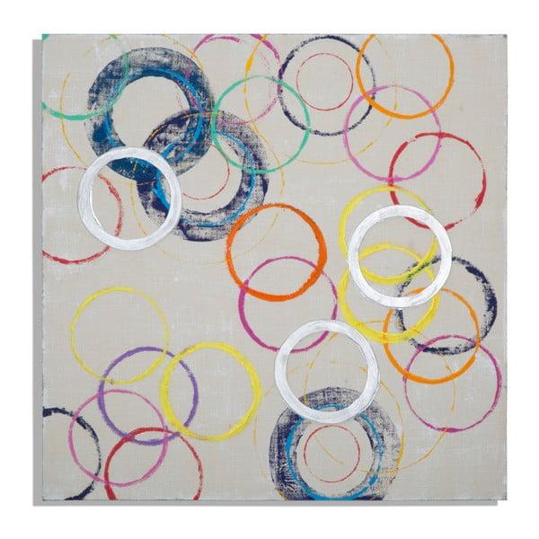 Tablou pictat manual Mauro Ferretti Round, 80 x 80 cm