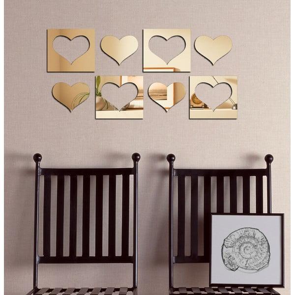 Dekorativní zrcadlo Srdcová osma