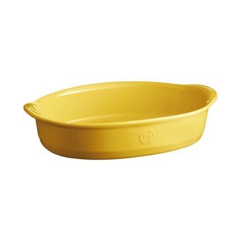 Tavă ovală pentru copt Emile Henry, 2,3 l, galben deschis de la Emile Henry