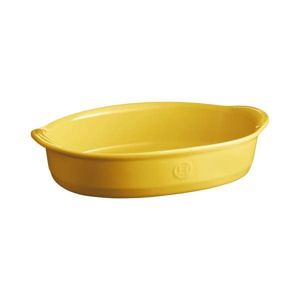 Tavă ovală pentru copt Emile Henry, 2,3 l, galben deschis