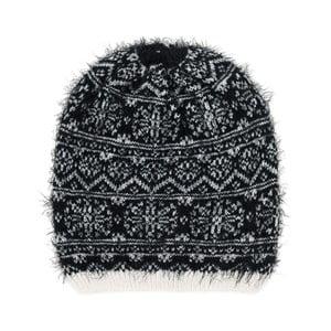 Černobílá čepice Korma