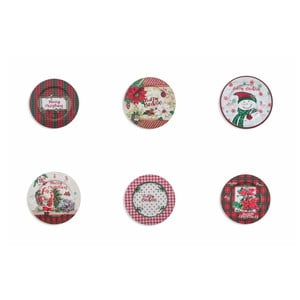 Sada 6 vánočních talířů Villa d'Este XMAS Sottopiatto, ⌀ 33 cm