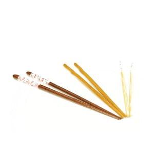 Sada 5 bambusových párů hůlek Fettucini
