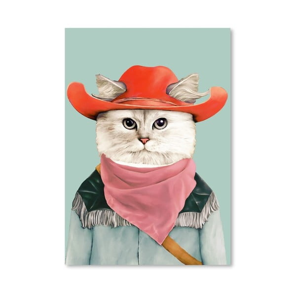 Plakát Rodeo Cat, 42x60 cm