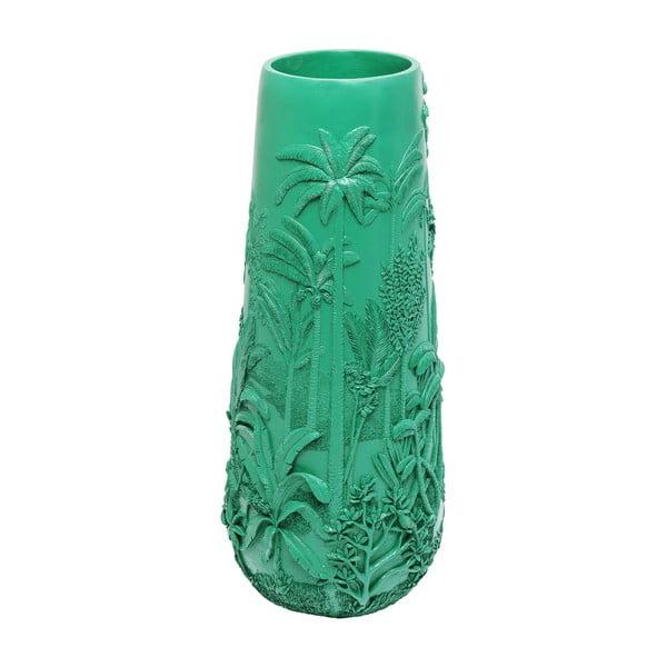 Tyrkysově zelená váza Kare Design Jungle Turquoise, výška 83 cm