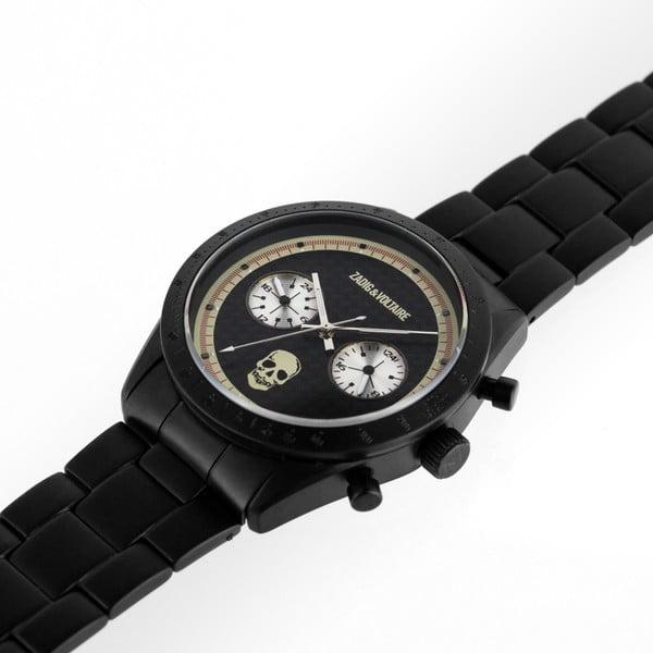 Pánské černé hodinky Zadig & Voltaire Little Skull