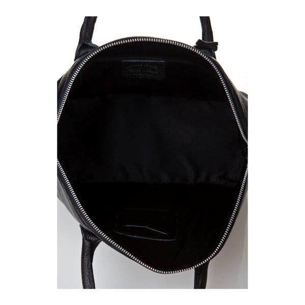 Kožená kabelka Costa Black