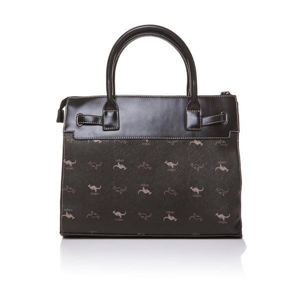 Kožená kabelka do ruky Canguru Pendant, černá